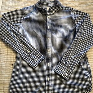 Lands End Navy Check Button Down
